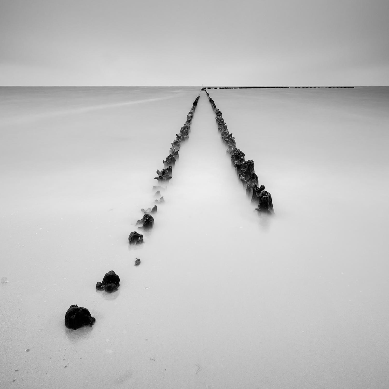 Hindeloopen zwart-wit IJsselmeer